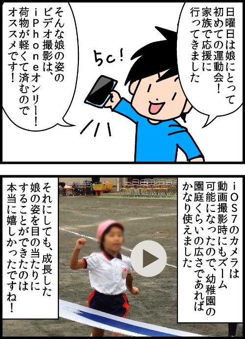 日曜日は娘にとって初めての運動会!家族で応援に行ってきました。そんな娘の姿のビデオ撮影は、iPhoneオンリー!荷物が軽くて済むのでオススメです!iOS7のカメラは動画撮影時にもズーム可能になったので、幼稚園の園庭くらいの広さであればかなり使えました。それにしても、成長した娘の姿を目の当たりにすることができたのは本当に嬉しかったですね!