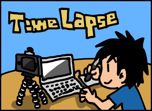 漫画描いてるところを30秒のタイムラプス動画にしてみました