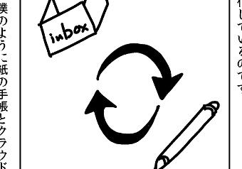 そして出社時に、Googleカレンダーから手帳にinboxの予定を転記するようにしました。転記し終わったらその予定は「同期済み」ということで、inboxから別のカレンダーに変更するのです。また手帳に直接予定を書き込んだ際には、フリクションボールで印をつけておきます。フリクションボールとは摩擦熱により後から消すことができるボールペンです。この印がついた予定はGoogleカレンダー側に「未同期」のものということです。そして退社時に、手帳から印のついた予定をGoogleカレンダーに転記します。転記し終わったらフリクションボールの印を消します。これによりGoogleカレンダー側に「同期済み」ということになります。つまりinboxカレンダーとフリクションボールにより、Googleカレンダーと手帳双方に同期済みかそうでないかを可視化しているのです。僕のように紙の手帳とクラウドのカレンダーを併用されている方は、参考にしてみてください!